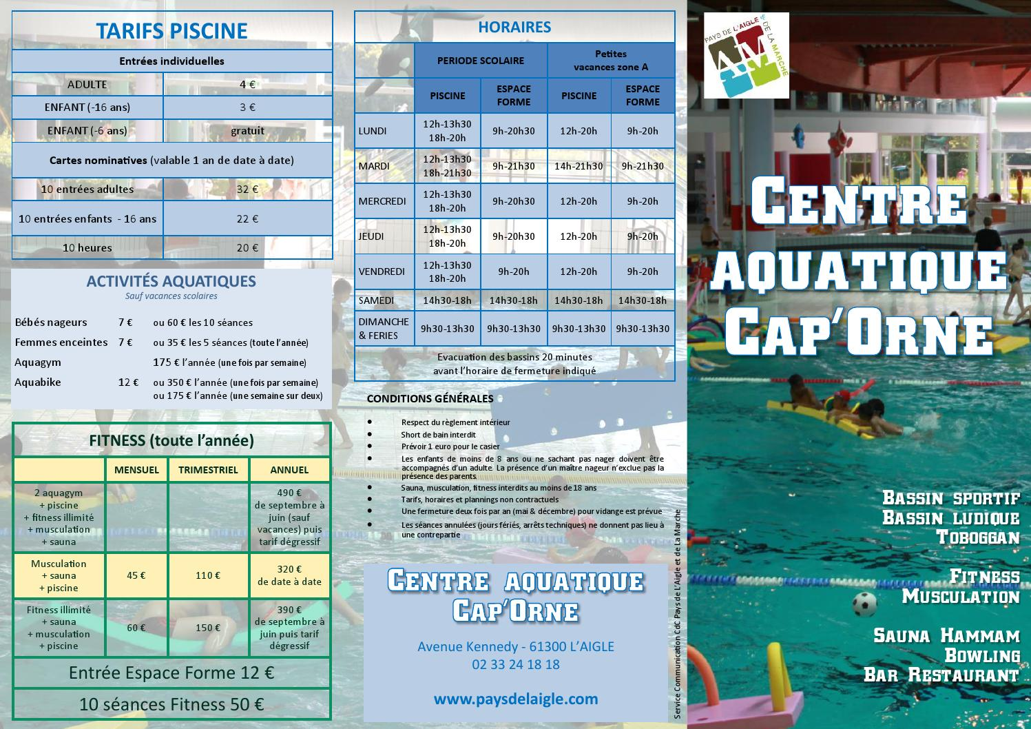 Issuu flyer general piscine sept 2014 by pays de l 39 aigle for Piscine l aigle