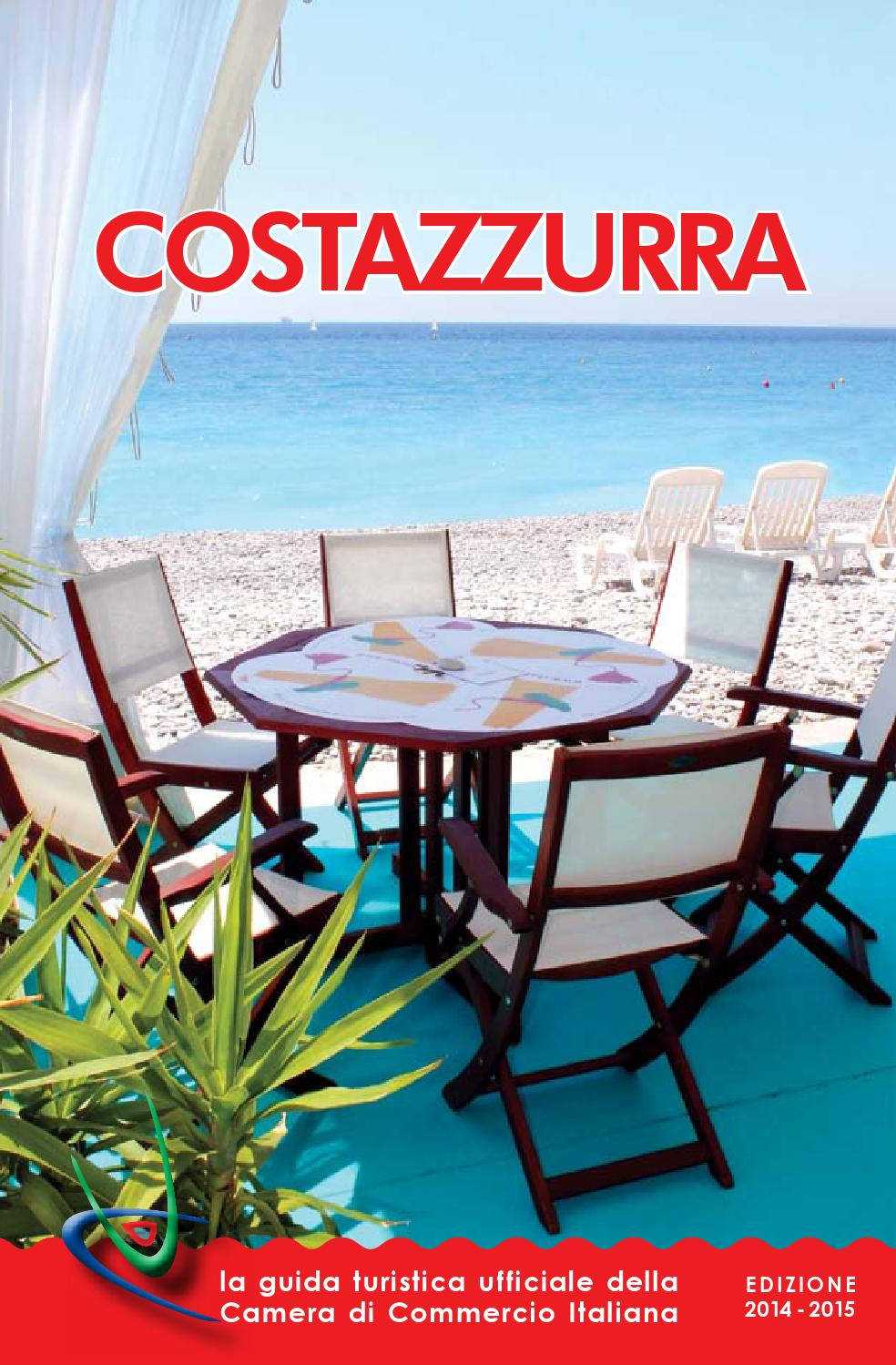 Issuu guida turistica costazzurra 2014 by chambre de for Chambre de commerce franco italienne