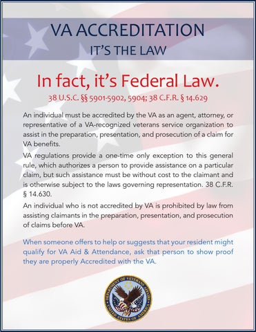 VA Accreditation: its the Law