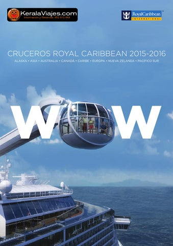 Mayoristas de Viajes Royal Caribbean Catálogo Cruceros 2015 2016