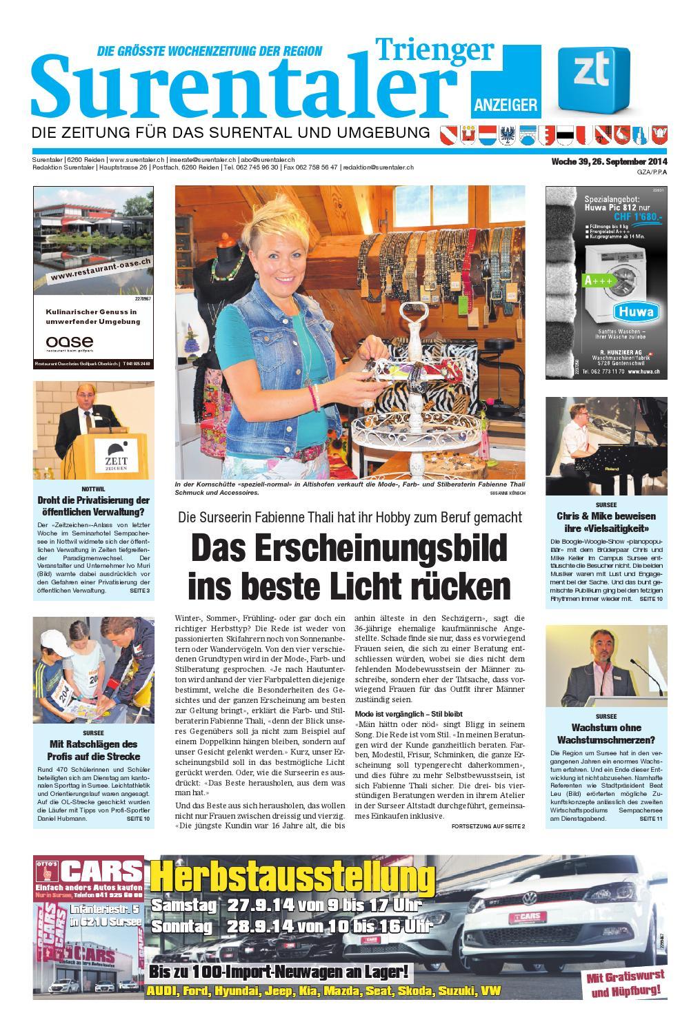 Issuu Surentaler 14 39 By Zofinger Tagblatt Ag