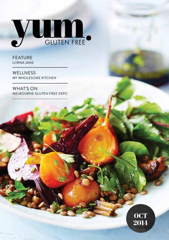 yum. Gluten Free Magazine October 2014 cover
