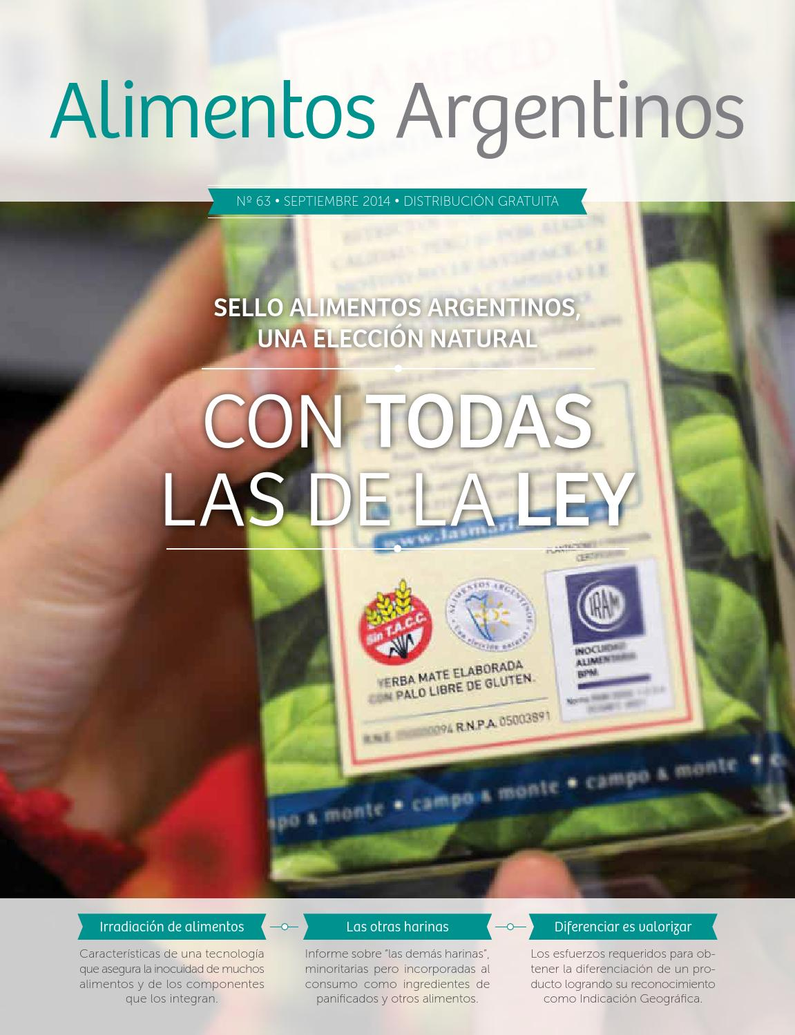 Issuu revista alimentos argentinos n 63 by alimentos for Revistas del espectaculo argentino