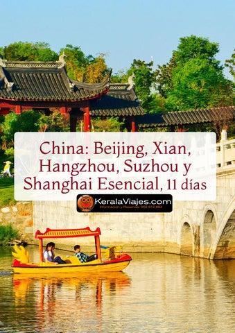 Mayoristas de Viajes Beijing Xian Hangzhou Suzhou Shanghai 11dias
