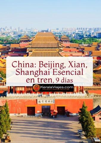Mayoristas de Viajes Beijinng. Xian, Shaghai Esencial 9dias en Tren