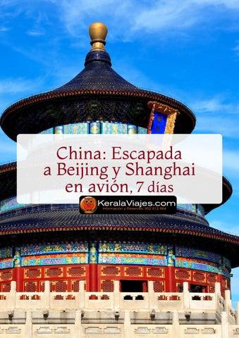Mayoristas de Viajes China Escapada a Beijing y Shaghai 7dias avion