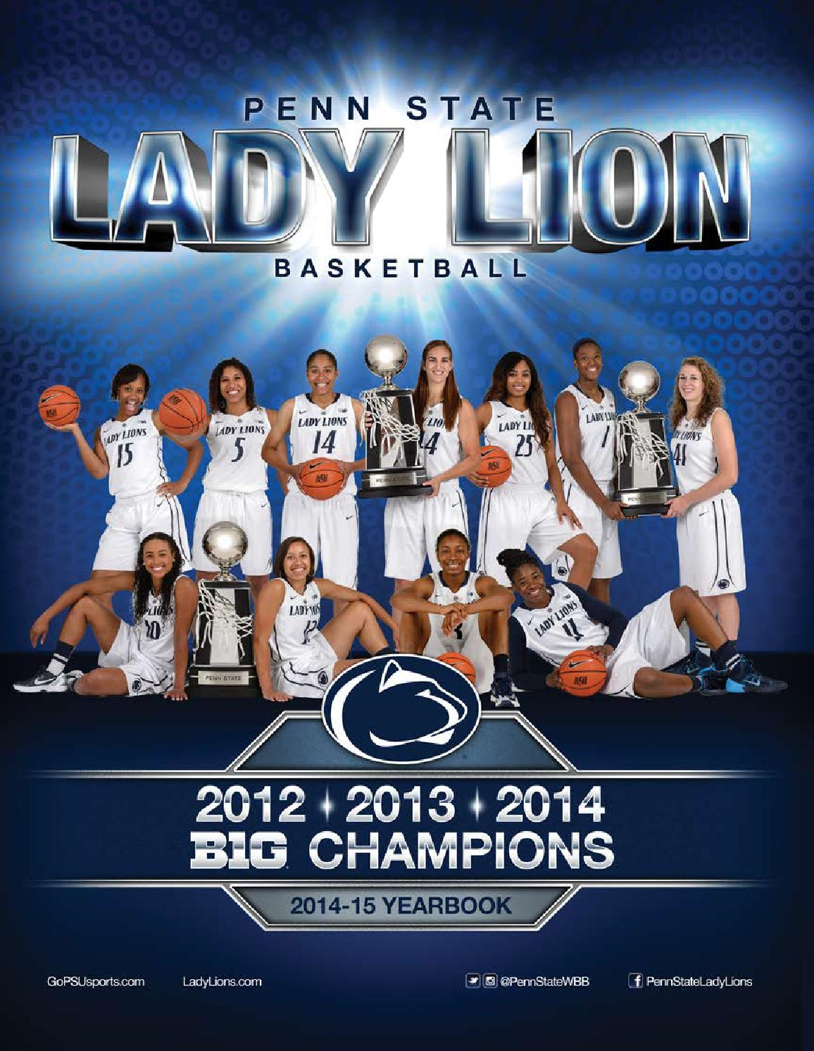 ISSUU - 2014-15 Penn State Lady Lion Basketball Yearbook ...