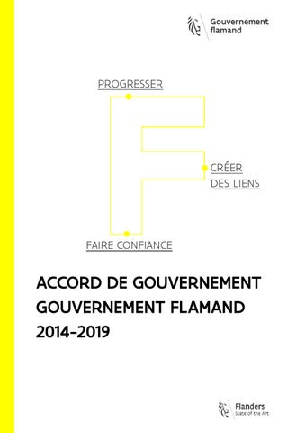 Accord de gouvernement. Gouvernement Flamand 2014-2019