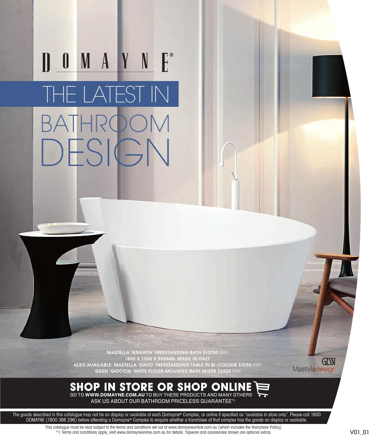 Issuu The Latest In Bathroom Design By Domayne