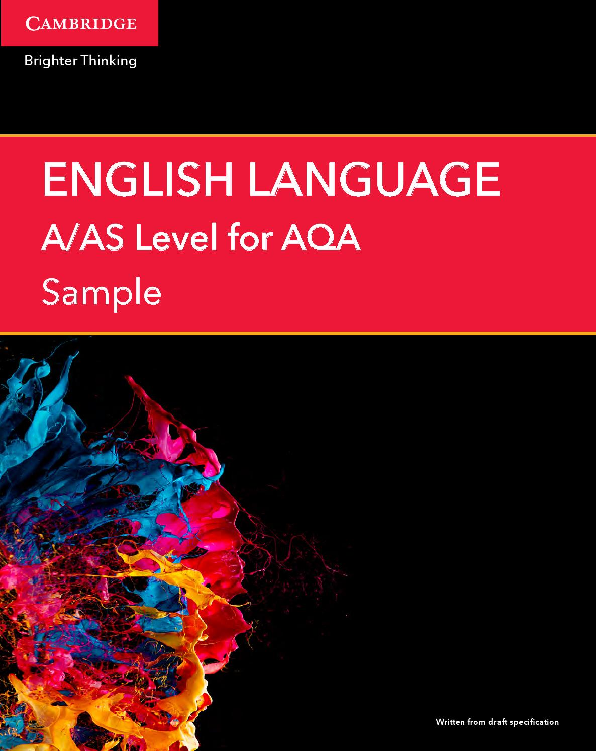 aqa level english lit coursework Andrew moore's resource site for english teachers free access to extensive teaching resources for english at ks3/4, aqa english lit gce coursework gcse and advanced level.