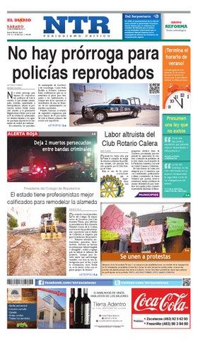 Portada del El Diario NTR   Sábado 25 de Octubre del 2014
