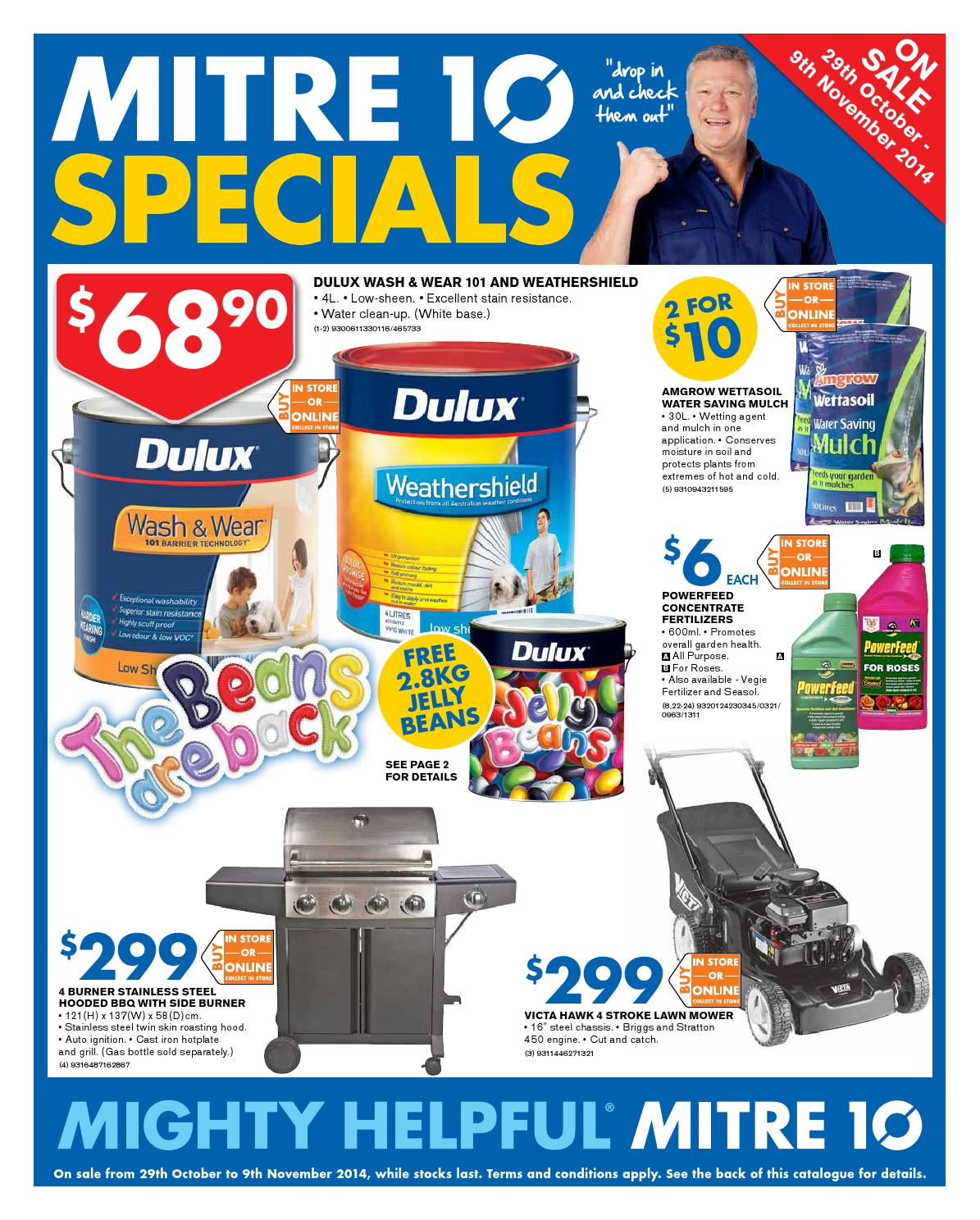 Mitre10 catalogue 29 october 9 november 2014 by echo for Gardening tools mitre 10