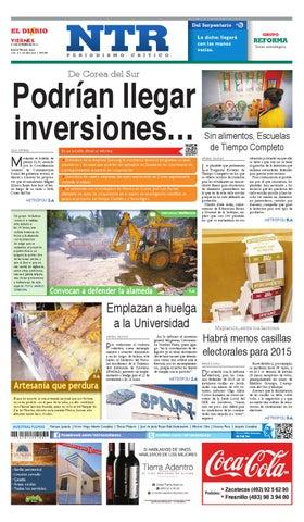 Portada del El Diario NTR   Viernes 31 de Octubre del 2014