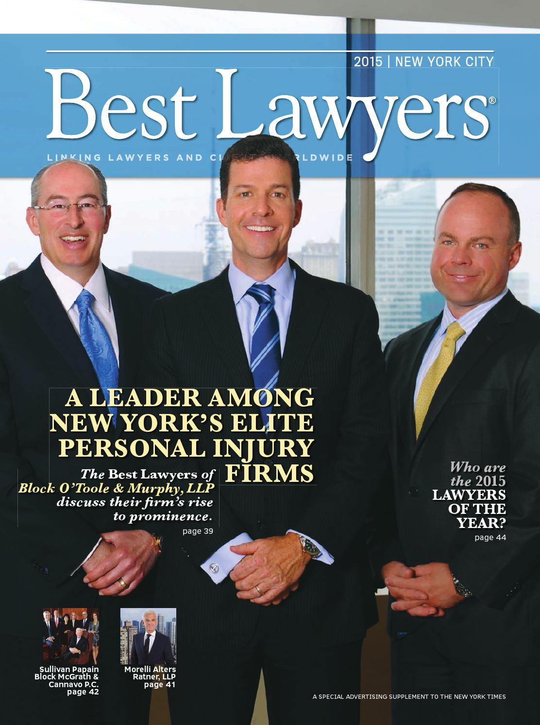 Best Lawyers In New York 2015 By Best Lawyers Issuu
