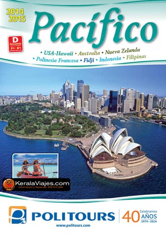 Mayoristas de Viajes Politours Hawaii - Australia - Polinesia - Fidji