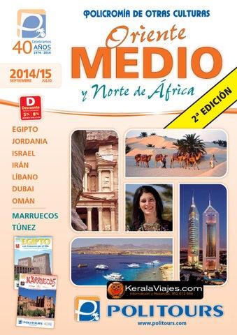 Mayoristas de Viajes Politours oriente medio africa 2015