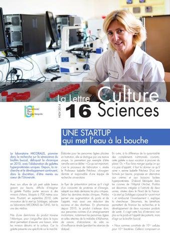 La lettre Culture Science n°16