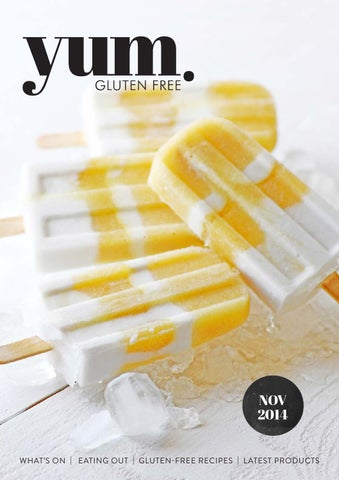Yum gluten free magazine November  2014 cover