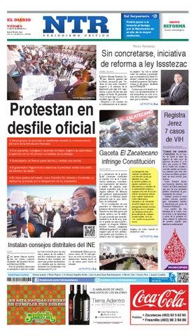 Portada del El Diario NTR | Viernes 21 de Noviembre del 2014