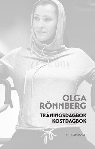 Olga rönnberg träningsdagbok och kostdagbok