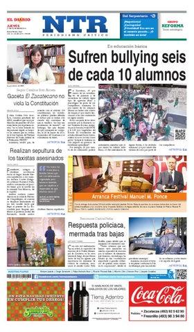 Portada del El Diario NTR | Jueves 27 de Noviembre del 2014