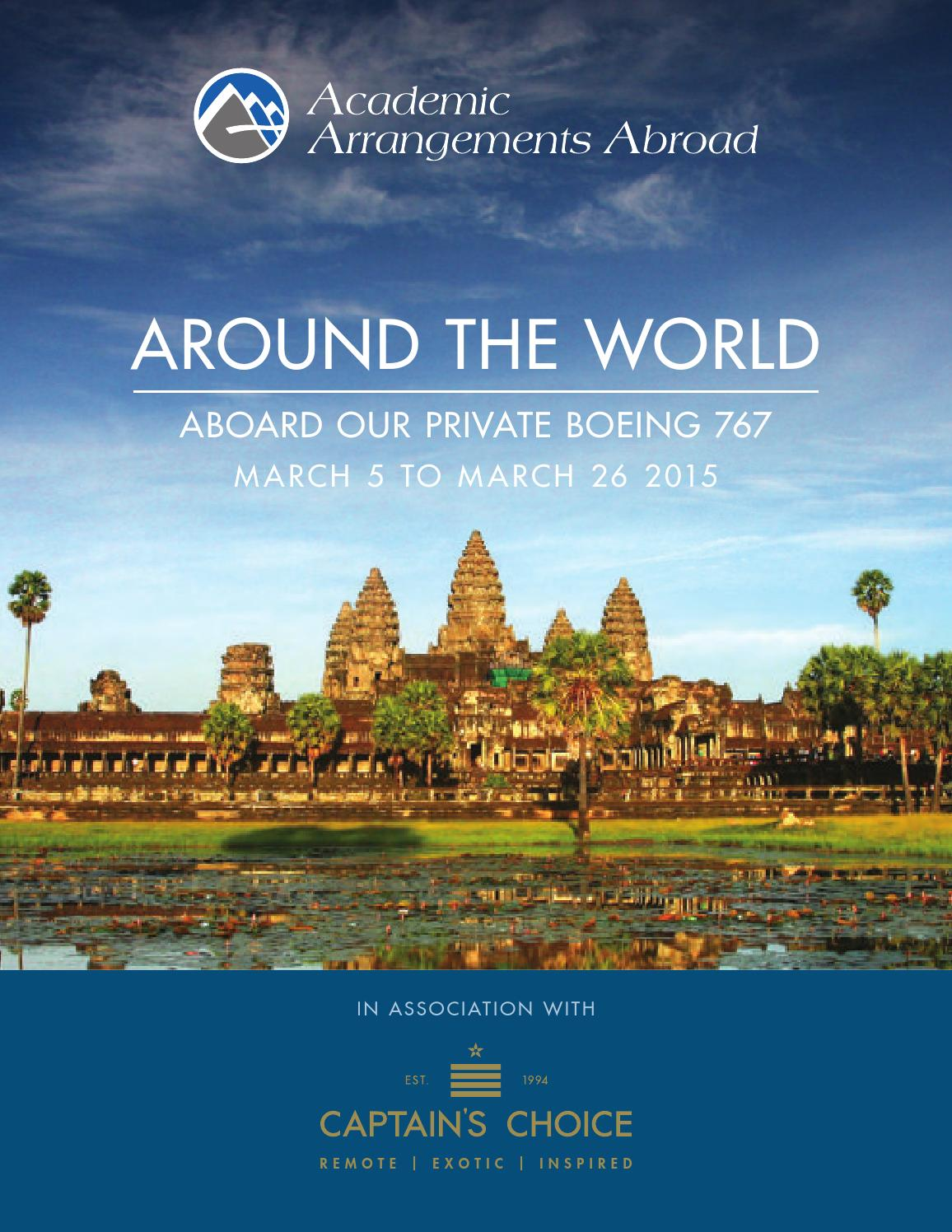 ISSUU  Around The World By Private Jet Brochure By AcademicArrangementsAbroad