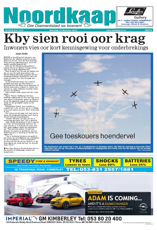 Die Noordkaap Koerant - Woensdag 10 Desember 2014