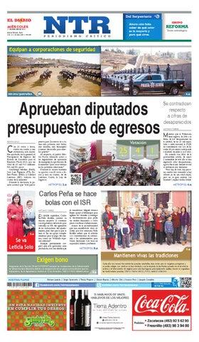 Portada del El Diario NTR   Miercoles 17 de Diciembre del 2014