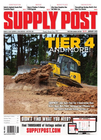 Supply Post Western Cover - January 2015