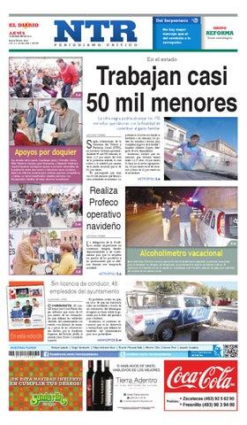 Portada del El Diario NTR | Jueves 18 de Diciembre del 2014