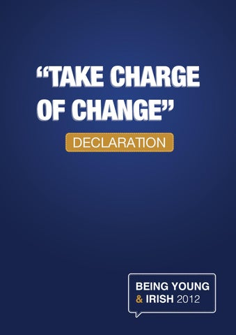 The Take Charge of Change Declaration