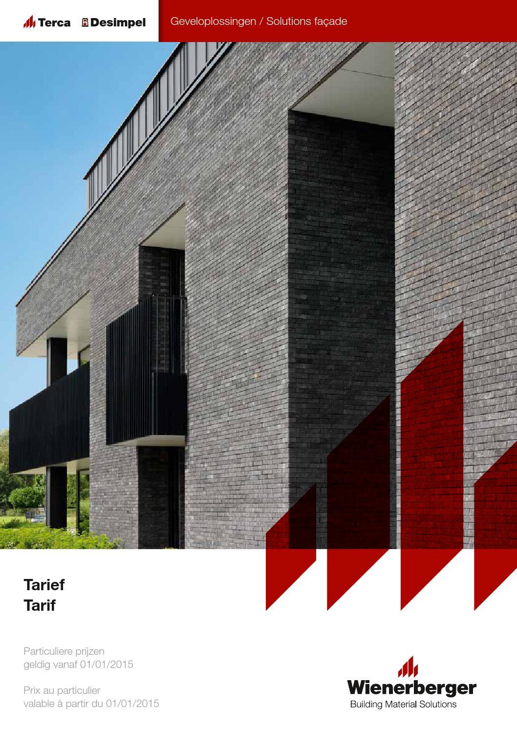 Issuu liste des prix briques de parement terca 2015 by for Brique de parement exterieur prix