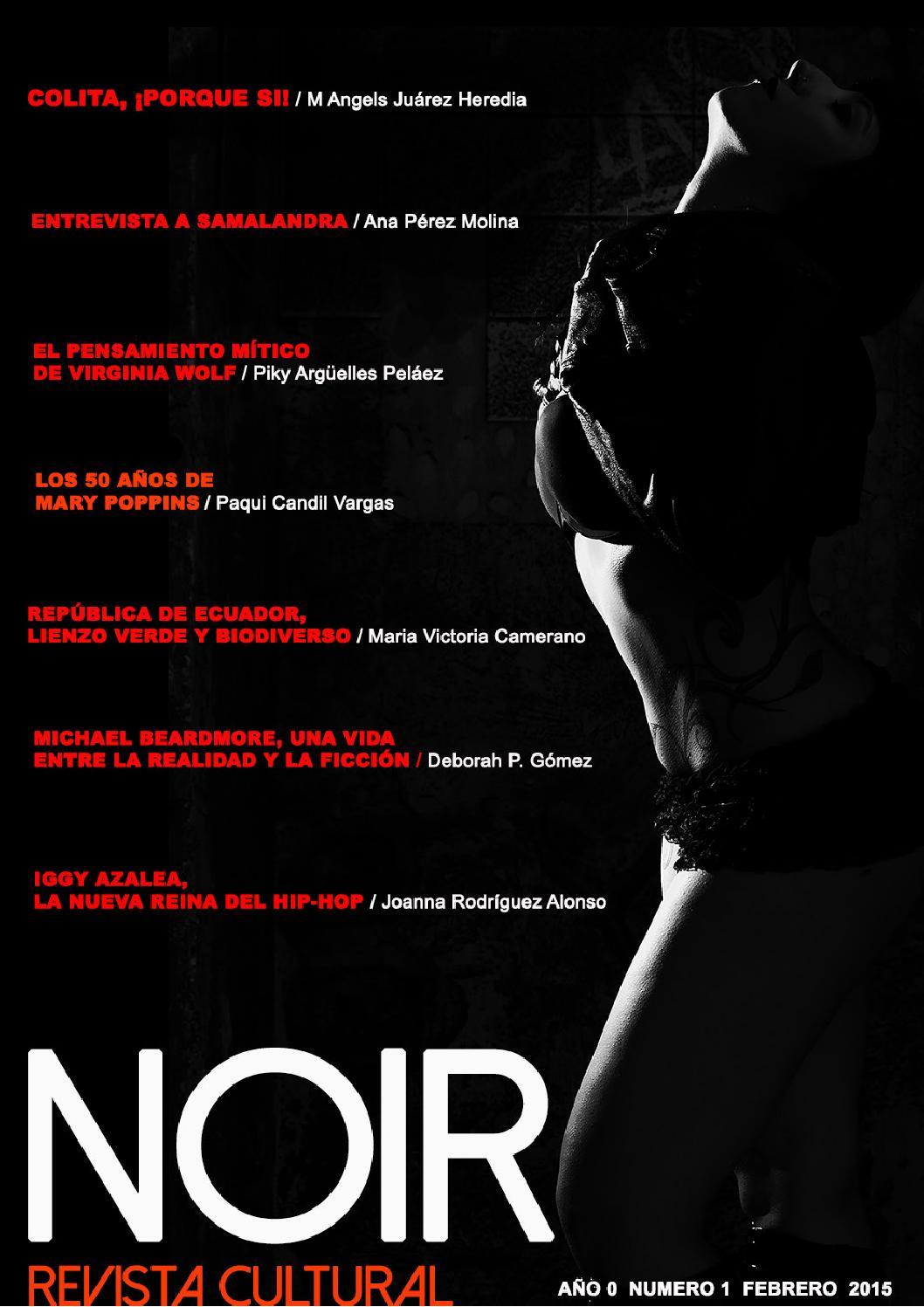 Noir, Revista Cultural. Num. 1 Febrero 2015 - Magazine cover