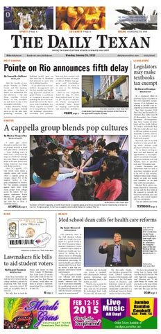 Issue for January 26, 2015