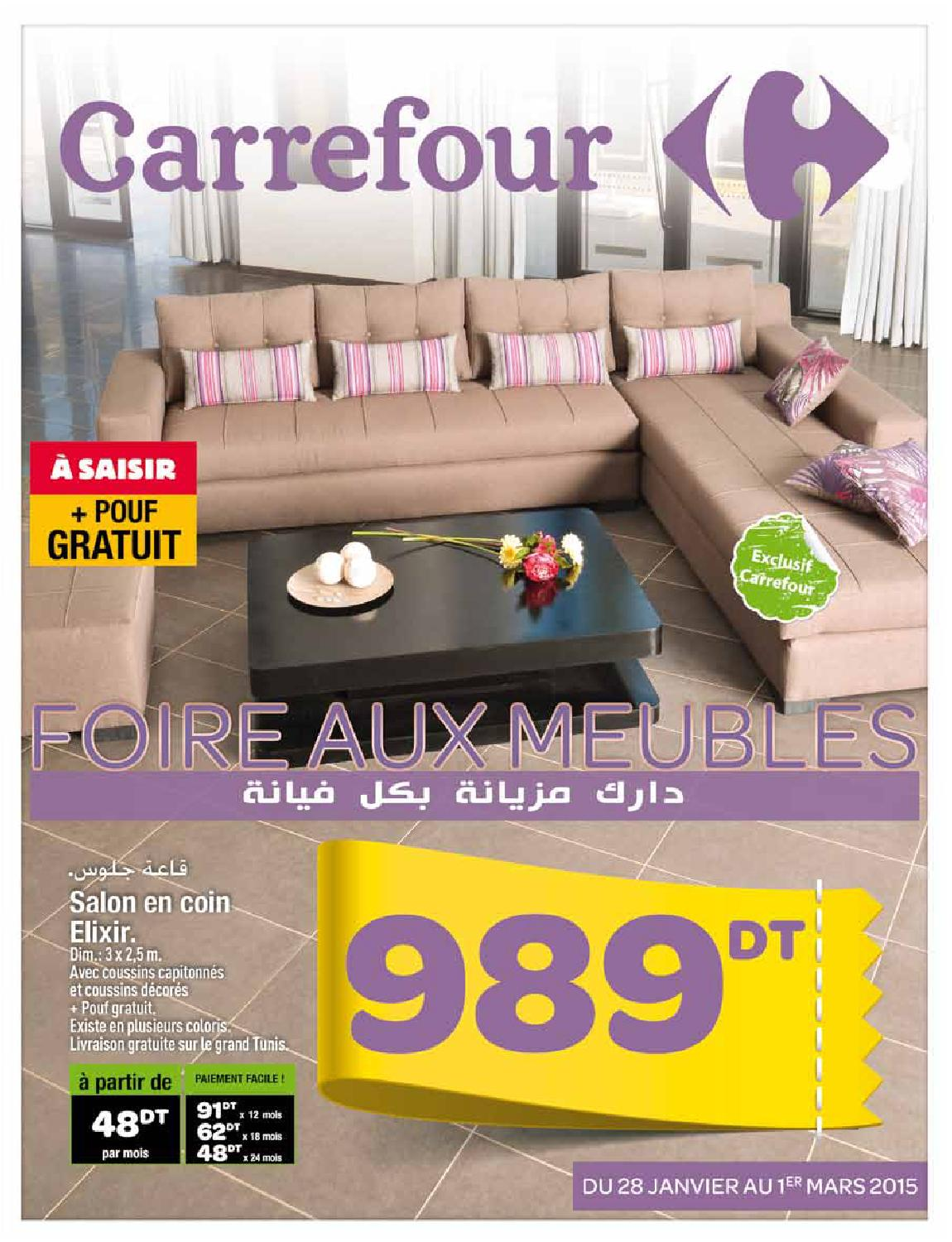 issuu catalogue carrefour foire aux meubles by carrefour tunisie. Black Bedroom Furniture Sets. Home Design Ideas