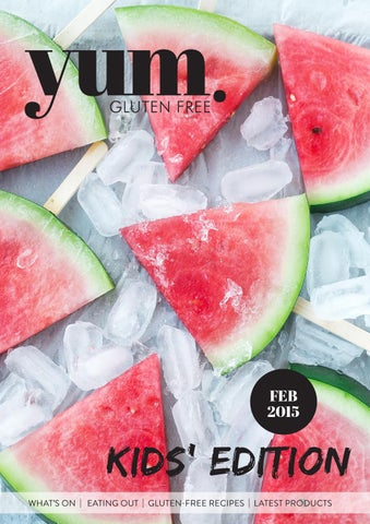 yum. Gluten Free Magazine Feb 2015 cover