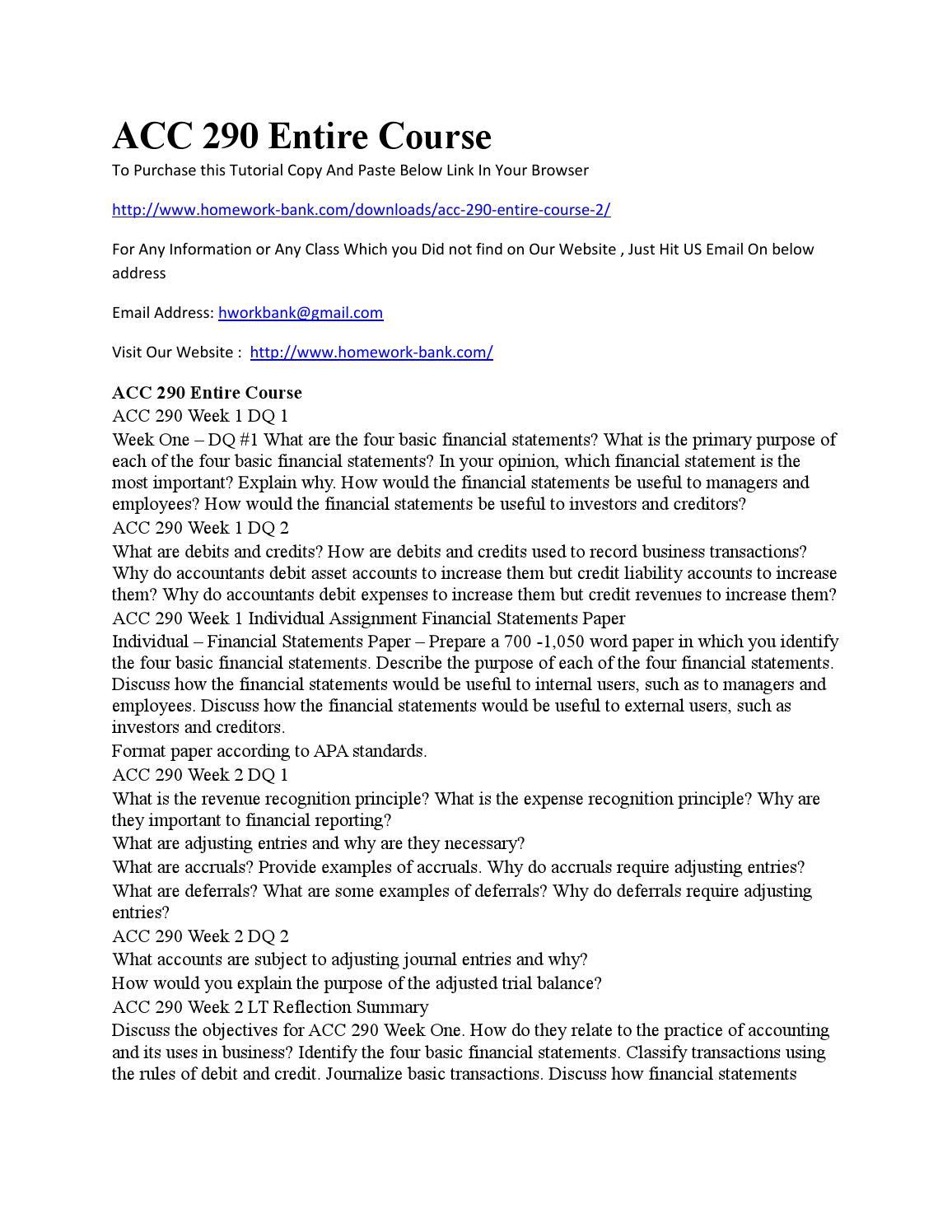 acc 290 journalizing basic transactions