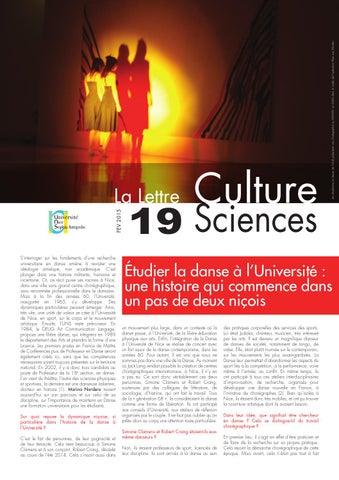 La lettre Culture Science n°19
