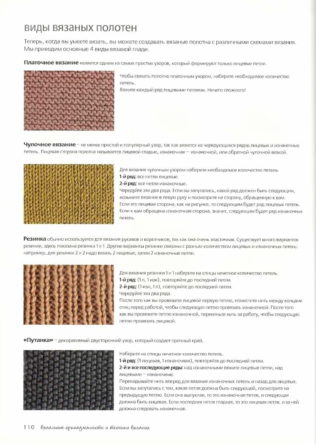 Что такое вязание и их виды