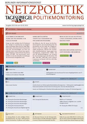 Tagesspiegel Politikmonitoring zur Netzpolitik