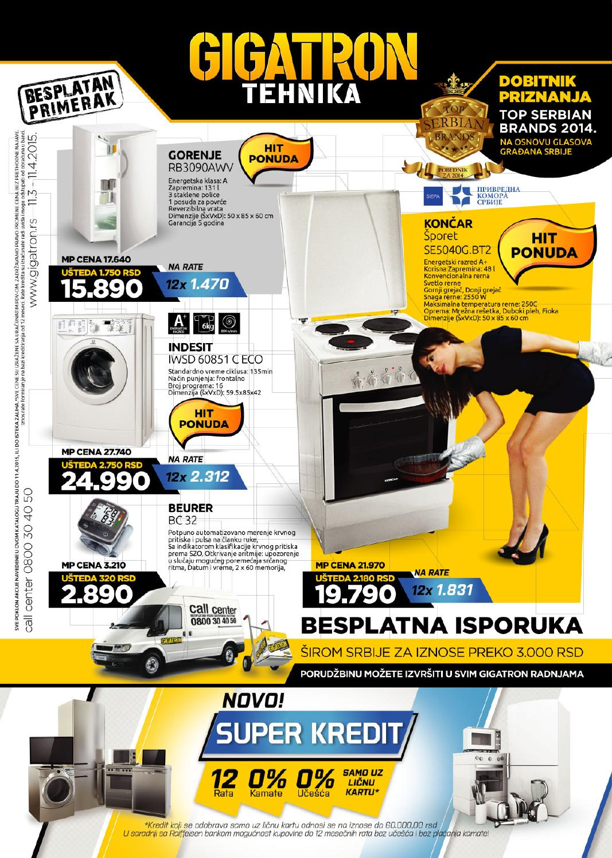 Issuu Gigatron Katalog Bela Tehnika Mart 2015 By