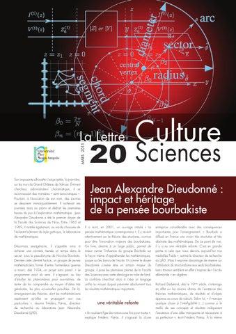 La lettre Culture Science n°20