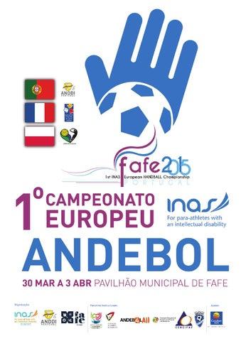 Revista 1º Campeonato da Europa de Andebol de INAS