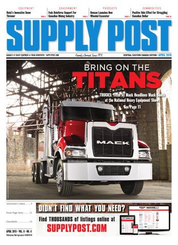 Supply Post Eastern Cover - April 2015