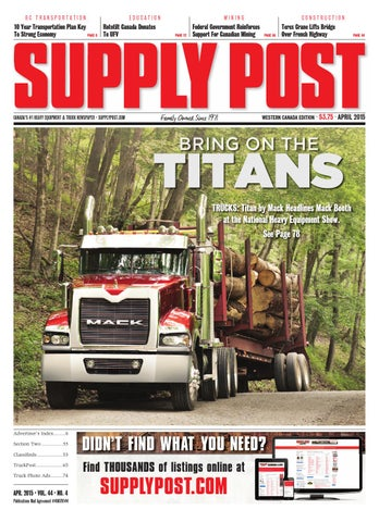 Supply Post Western Cover - April 2015