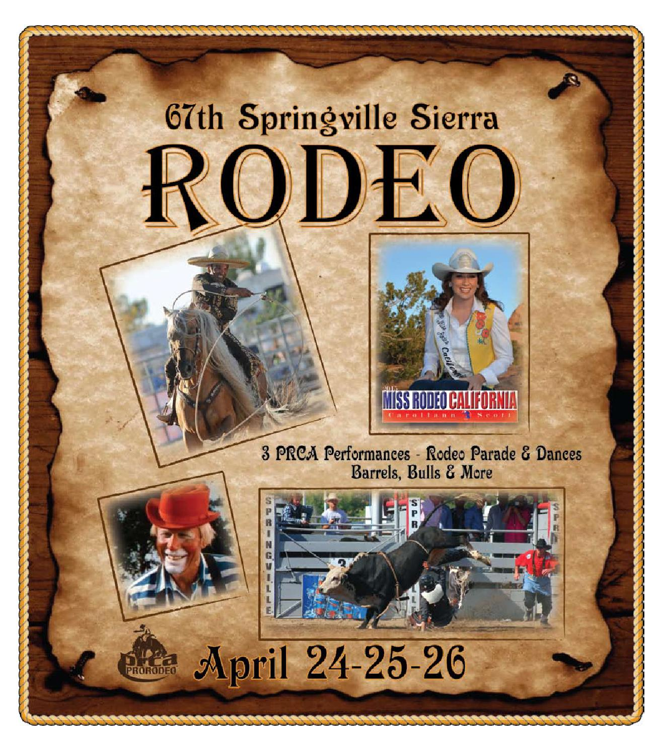 67th Springville Sierra Rodeo - Magazine cover