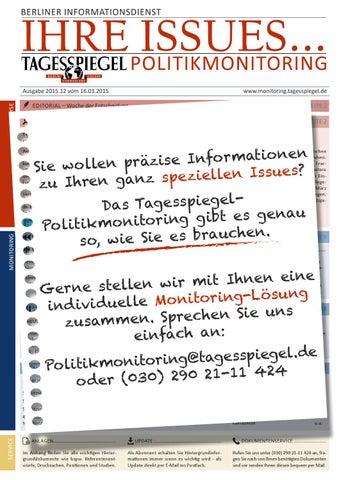 Tagesspiegel Politikmonitoring - Ihre Issues
