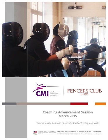 FIE-Fencers Club CMI Coaches Profiles Booklet