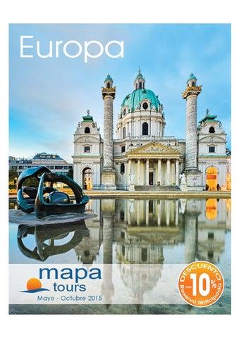 Mayoristas de Viajes Mapa tours circuitos europa 2015