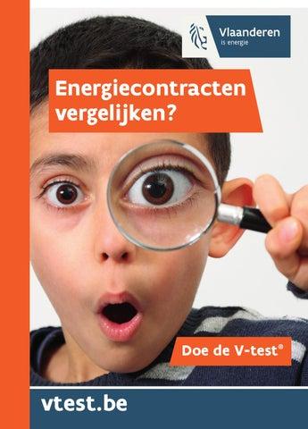 Energiecontracten vergelijken? Doe de V-test